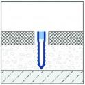 Dilatace - PVC - hloubková - šípová - 40mm