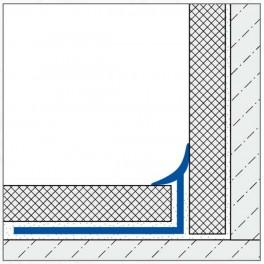 Lišta obloučková - PVC 8mm
