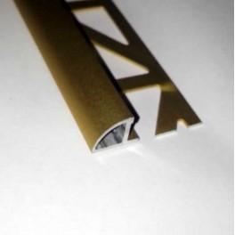 Lišta obloučková - hliník eloxovaný - zlatý
