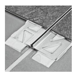 Dilatační - tenká - hliník - široká základna - černá