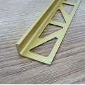 Lišta L - hliník eloxovaný zlatý 3m